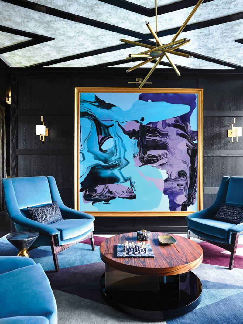 Pantone's Classic Blue Inspired Modern Living Room Designs living room design Pantone's Classic Blue Inspired Modern Living Room Designs greg natale home 20