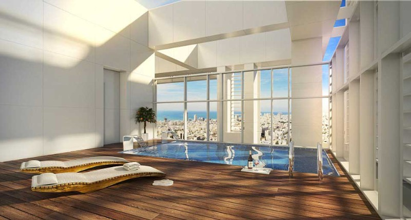 Inside Madonna's Stunning Luxury Penthouse in Tel Aviv luxury penthouse Inside Madonna's Stunning Luxury Penthouse in Tel Aviv piscina1 2
