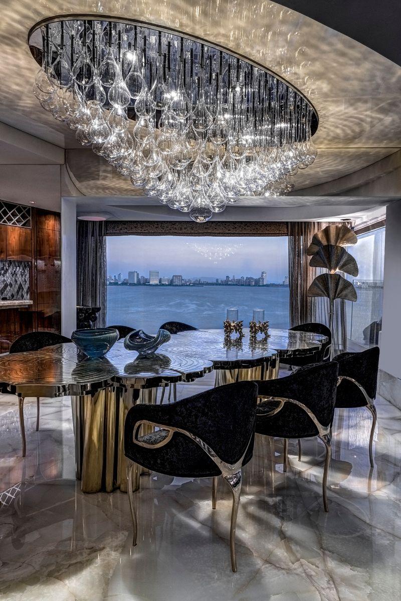 zz architects ZZ Architects Design Projects: A Luxury Apartment in Mumbai ZZArchitects Krupa Zubin Zainuddin Yagnik Seafacing Apartment Luxury Contemporary Interiors Mumbai11
