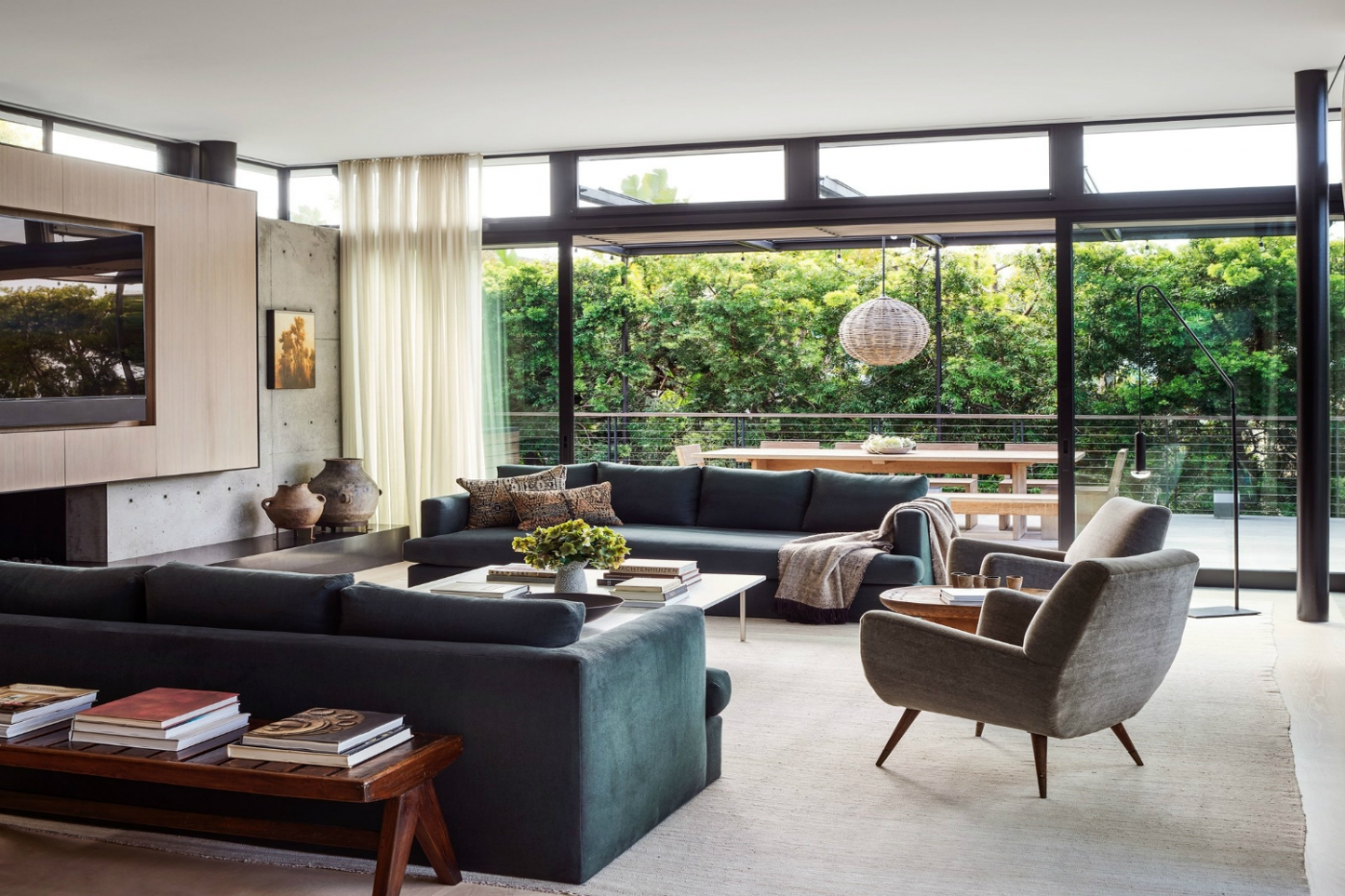 modern home Inside Maria Sharapova's Modern Home in Los Angeles featured 2 1400x933