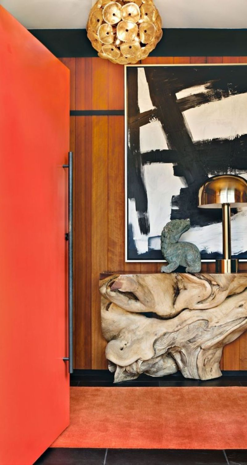 An Unexpected Color Pallete For Your Entryway Decor