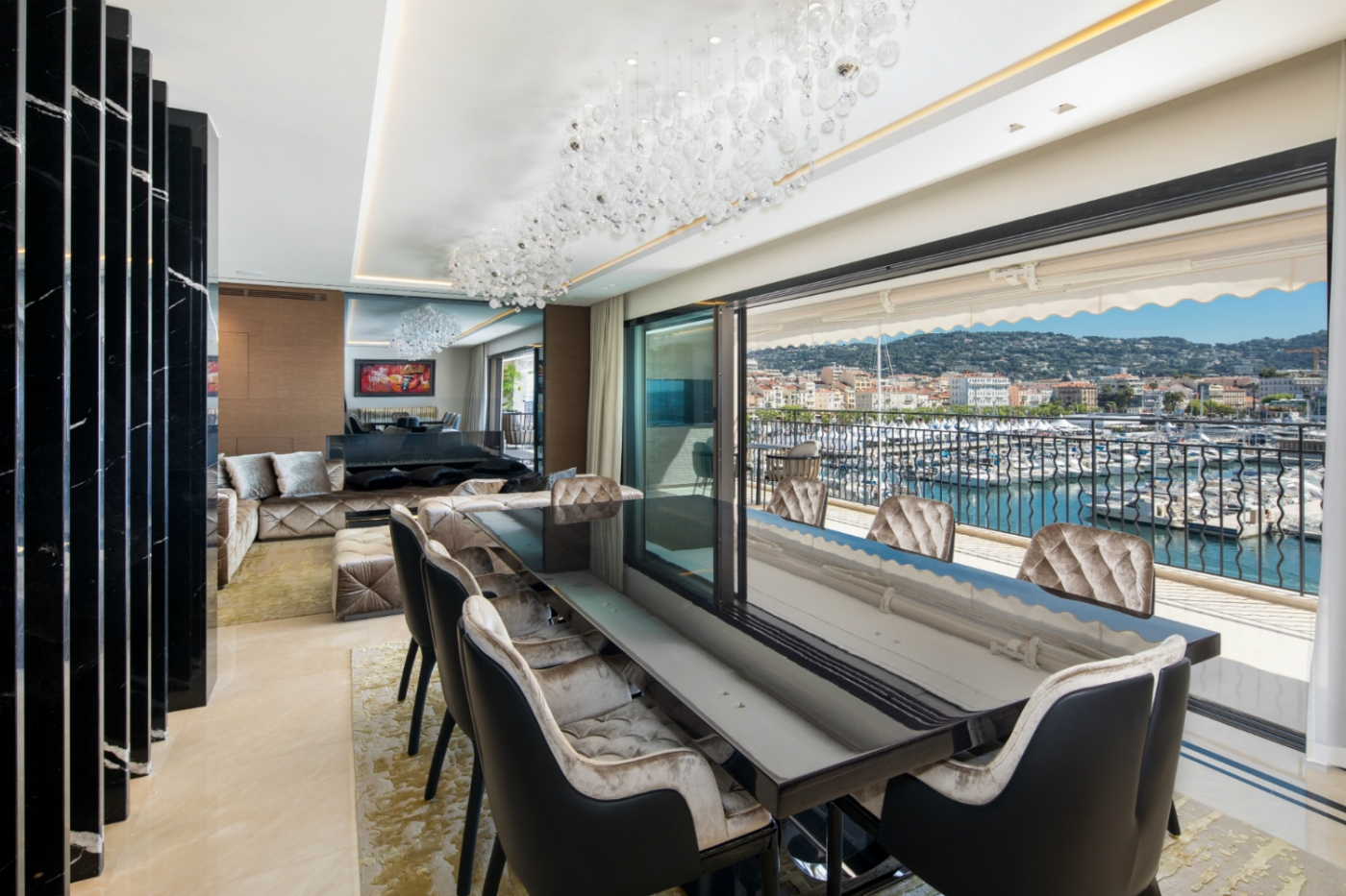 french apartment An Opulent French Apartment That Overlooks The Port Of Cannes feature 1400x933