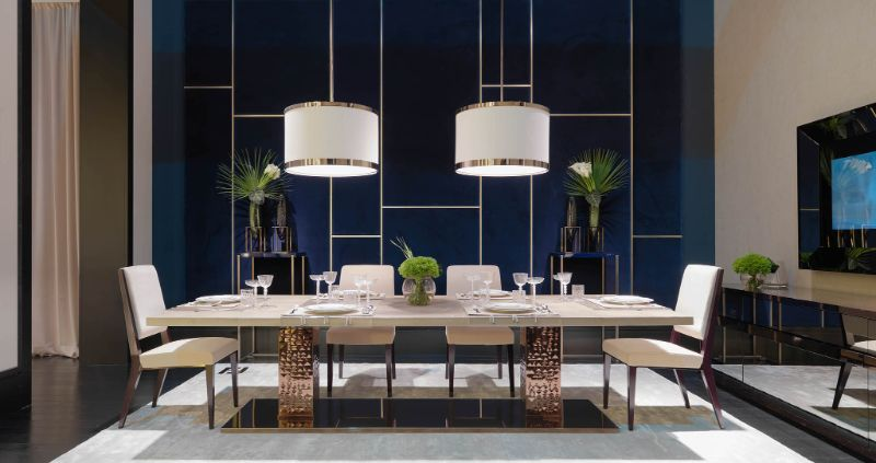 Refined and Modern Dining Tables For Your Astonishing Dining Room modern dining tables Refined and Modern Dining Tables For Your Astonishing Dining Room Bernini table by Fendi Casa 1