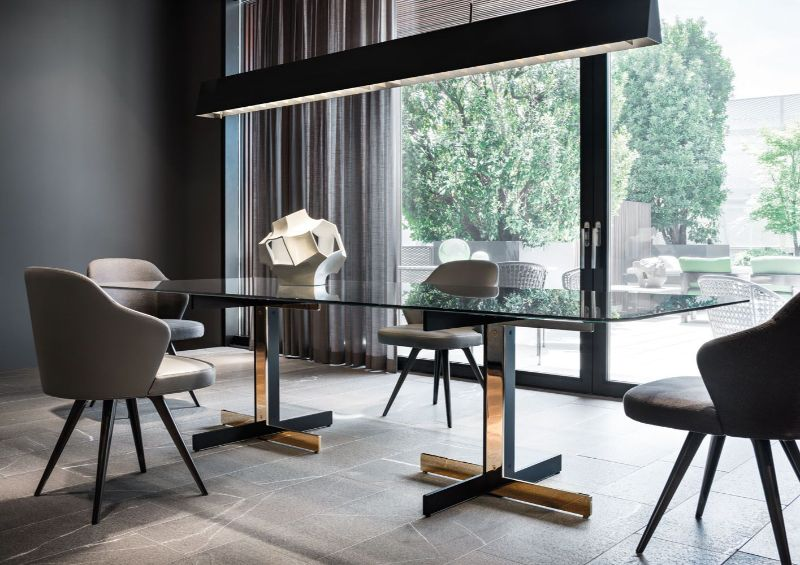 Refined and Modern Dining Tables For Your Astonishing Dining Room modern dining tables Refined and Modern Dining Tables For Your Astonishing Dining Room Catlin table by Minotti