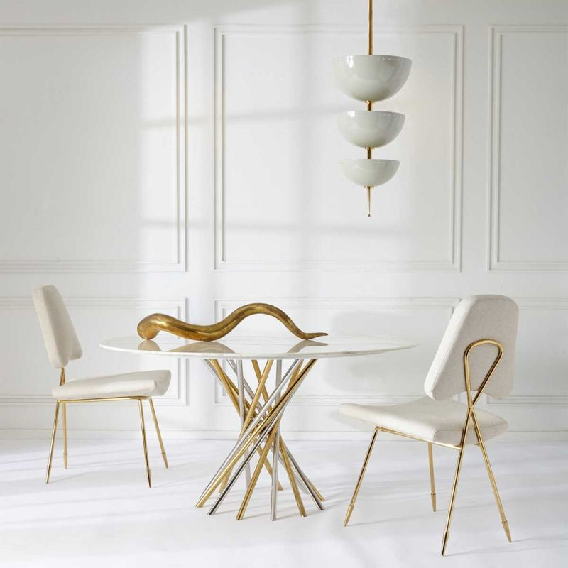 Refined and Modern Dining Tables For Your Astonishing Dining Room modern dining tables Refined and Modern Dining Tables For Your Astonishing Dining Room ELECTRUM DINING TABLE by Jonathan Adler 1