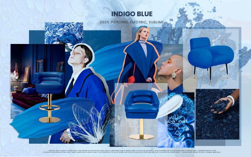 Electric Interior Design Trends in Indigo Blue Electric Interior Design Ideas in Indigo Blue 1