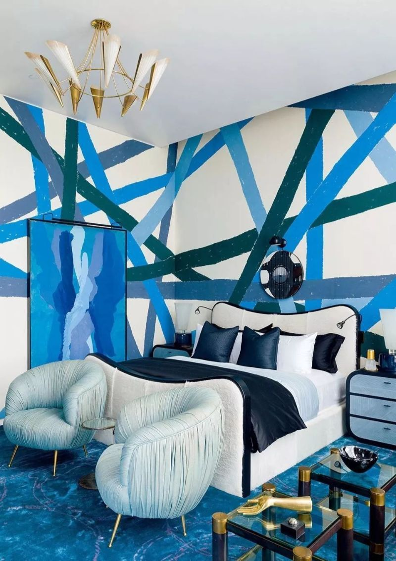 Electric Interior Design Trends in Indigo Blue Electric Interior Design Ideas in Indigo Blue 2 1 1