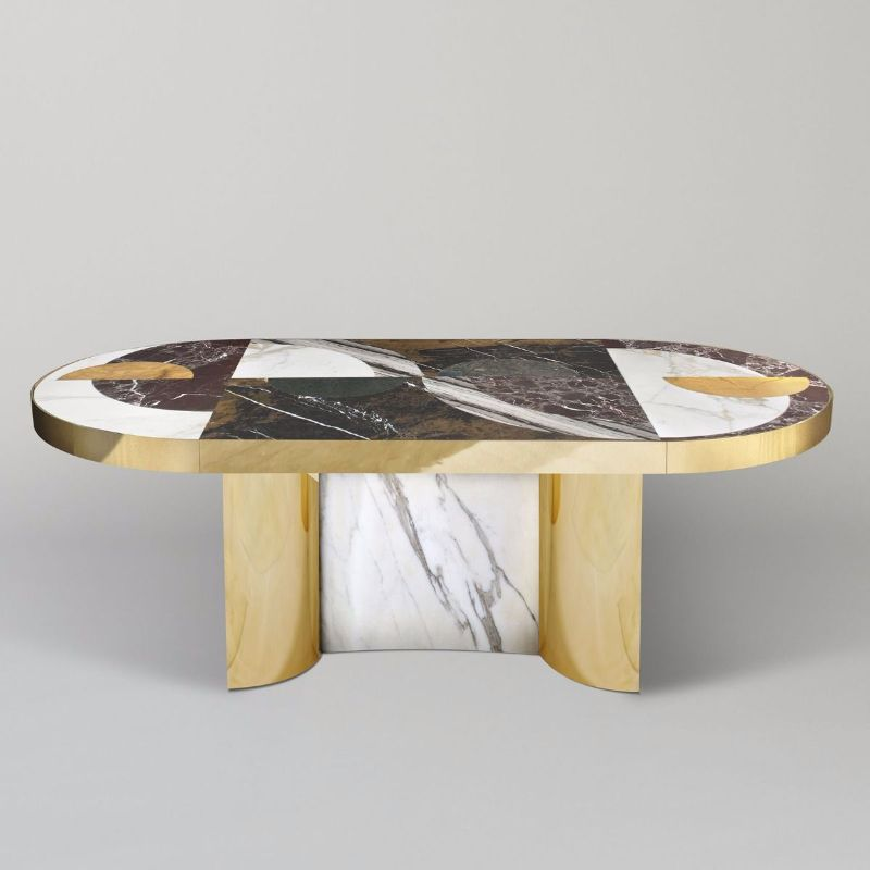 Refined and Modern Dining Tables For Your Astonishing Dining Room modern dining tables Refined and Modern Dining Tables For Your Astonishing Dining Room Half moon dining table lara bohnic