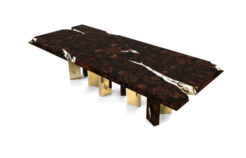 Refined and Modern Dining Tables For Your Astonishing Dining Room modern dining tables Refined and Modern Dining Tables For Your Astonishing Dining Room empire dining table by boca do lobo 1