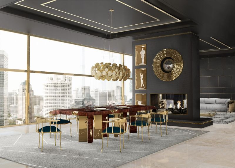 Refined and Modern Dining Tables For Your Astonishing Dining Room modern dining tables Refined and Modern Dining Tables For Your Astonishing Dining Room empire dining table by boca do lobo