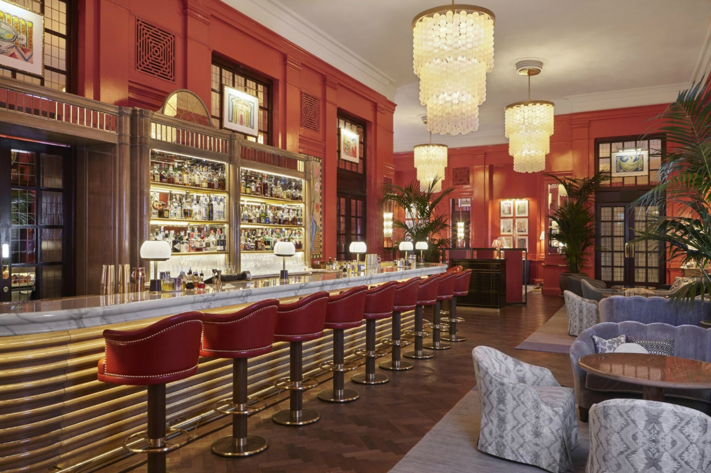 martin brudnizki The Coral Room – A Vibrant Grand Salon Bar Designed By Martin Brudnizki featured 1400x933