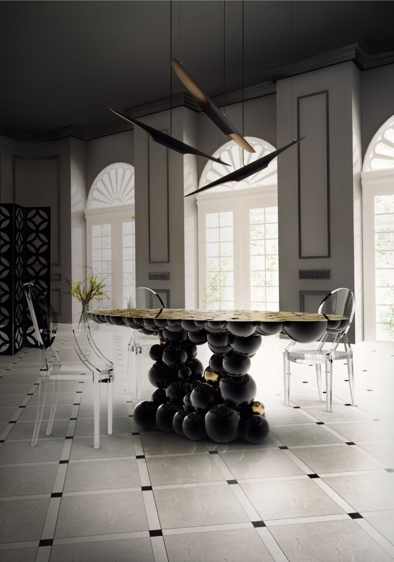 Refined and Modern Dining Tables For Your Astonishing Dining Room modern dining tables Refined and Modern Dining Tables For Your Astonishing Dining Room newton dining table by boca do lobo 1