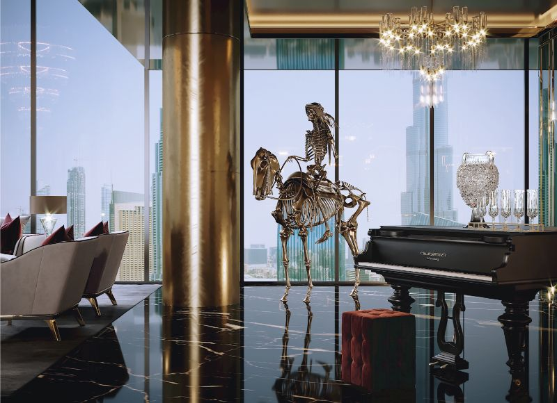 Opulence Meets Luxury: Inside A Glamorous Project By Celia Sawyer celia sawyer Opulence Meets Luxury: Inside A Glamorous Project By Celia Sawyer 4 Piano View 2