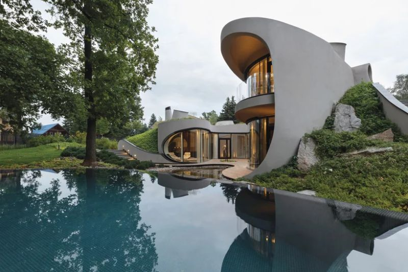 Organic Meets Futuristic Architectural Design: House in The Landscape architectural design Organic Meets Futuristic Architectural Design: House in The Landscape Organic Meets Futuristic Design House in The Landscape 2