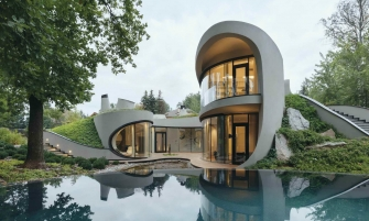 architectural design Organic Meets Futuristic Architectural Design: House in The Landscape Organic Meets Futuristic Design House in The Landscape feature 335x201