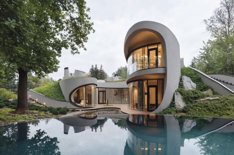 Organic Meets Futuristic Architectural Design: House in The Landscape architectural design Organic Meets Futuristic Architectural Design: House in The Landscape Organic Meets Futuristic Design House in The Landscape