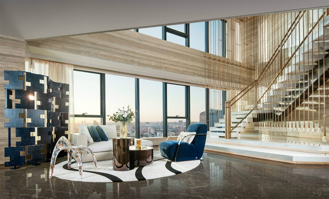 "modern design A Luxury Modern Design Abode – ""FENDI Apartment"" Designed By CCD feature 6 1400x847"