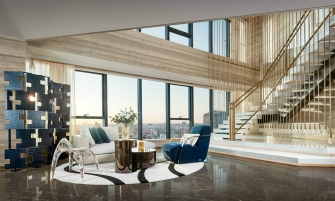 "modern design A Luxury Modern Design Abode – ""FENDI Apartment"" Designed By CCD feature 6 335x201"