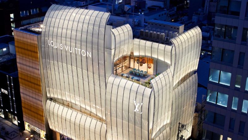 Louis Vuitton's First-Ever Café/Restaurant by Peter Marino and Jun Aoki louis vuitton Navigate Into The Ship Sails Inspired Louis Vuitton's Japan Maison LouisVuitton   s First Ever Caf   and Restaurant by PeterMarino and JunAoki 10