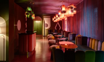 india mahdavi India Mahdavi's Rainbow-Bright Hued Restaurant Designs feature 17 335x201
