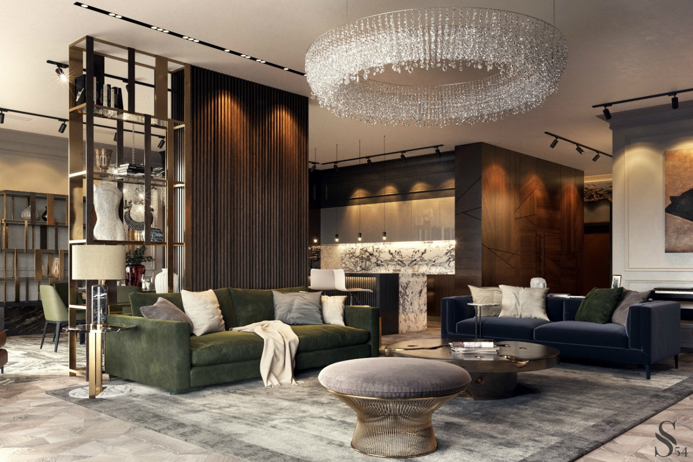 moscow apartment Earth Tones Set The Mood In This Luxury Moscow Apartment feature 6 1400x933