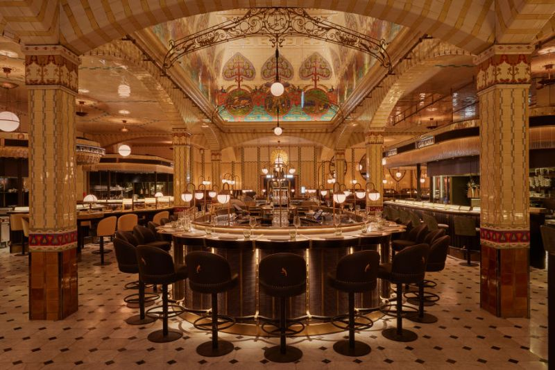 Get The Look: Harrods Dining Hall Designed by David Collins Studio david collins studio Get The Look: Harrods Dining Hall Designed by David Collins Studio Get The Look Harrods Dining Hall Designed by DavidCollinsStudio 2