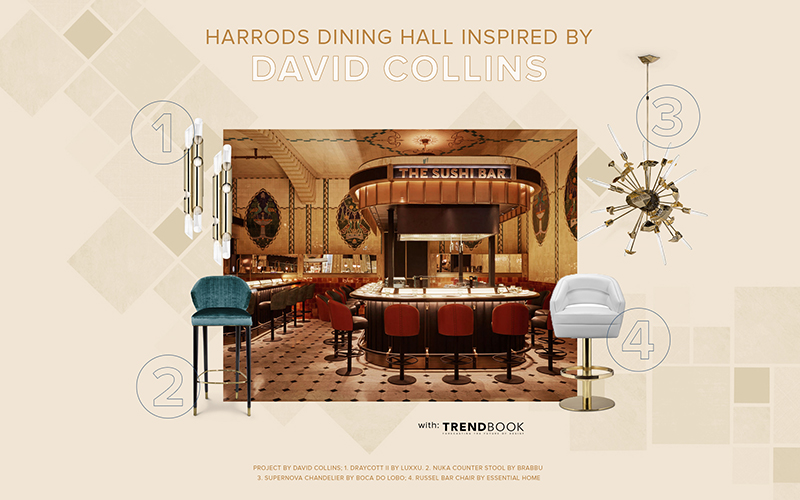 Get The Look: Harrods Dining Hall Designed by David Collins Studio david collins studio Get The Look: Harrods Dining Hall Designed by David Collins Studio Get The Look Harrods Dining Hall Designed by DavidCollinsStudio