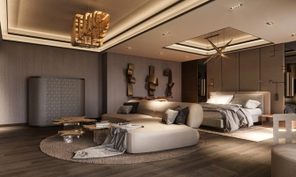 luxury furniture Bold and Luxury Furniture Reign In This Home Design By KKD.Studio Bedroom 3 335x201