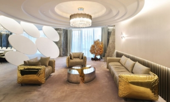 office design A Golden And Imposing Office Design By Sicilia Shine A Luxury And Contemporary Office Design By Sicilia Shine 1 335x201