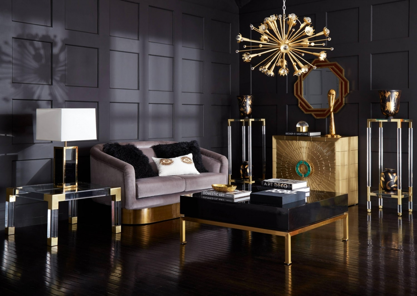 Imposing Furniture: Brass Modern Cabinets For A Luxury Design feature image 1 1400x996