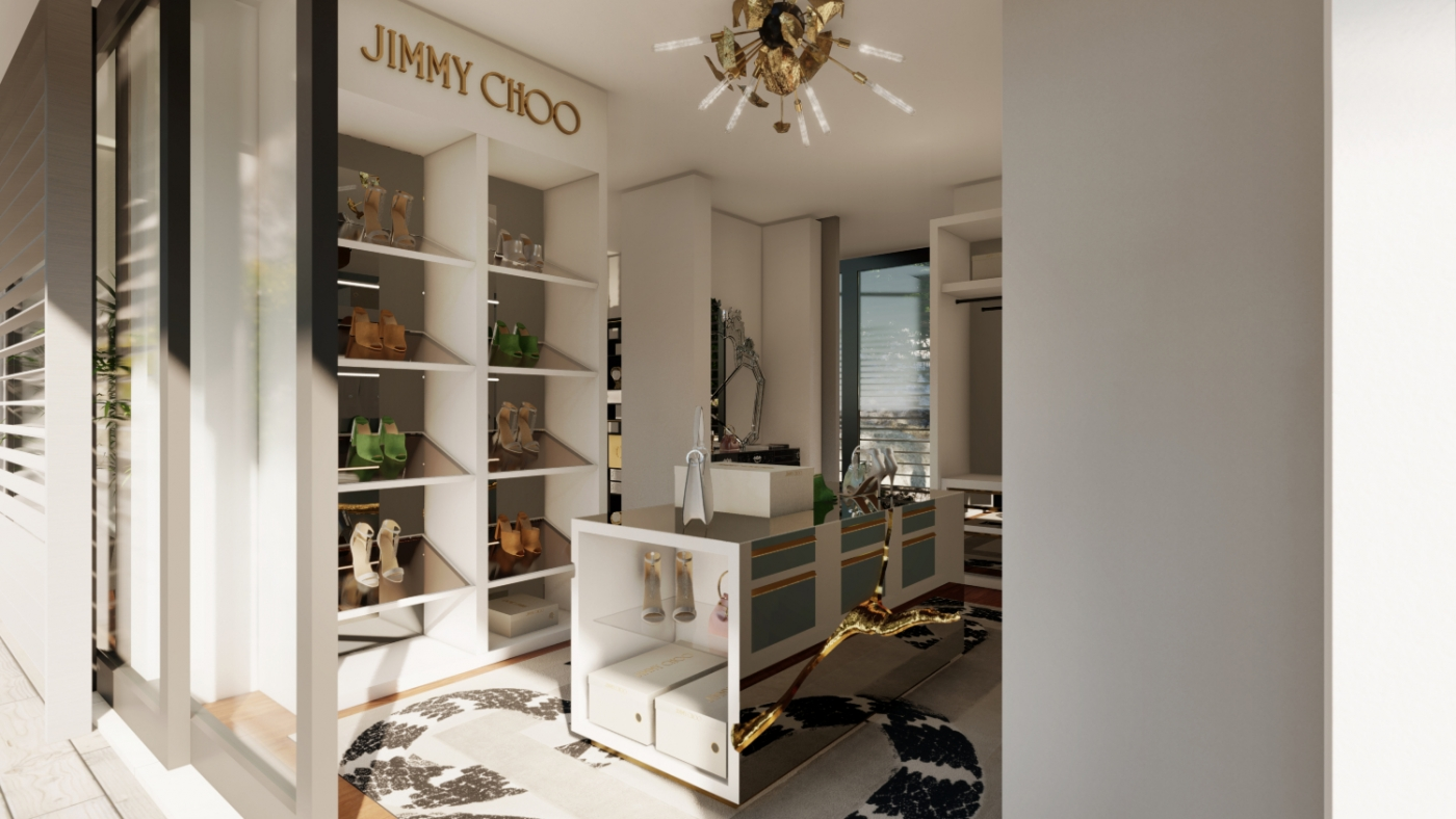 walk-in closets Walk-In Closets Of Your Dreams: Intimate and Elegant Spaces For You jimmy choo 1 1400x788
