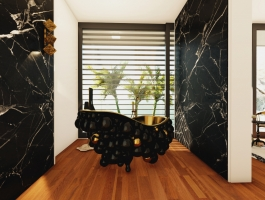 modern bathroom A Modern Bathroom Of Your Dreams: Step Inside a Mansion in Capri 8 73 Photo 265x200