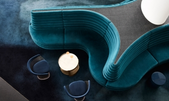 mim design A Blue and Gold Aesthetic: The New Rooftop Restaurant by Mim Design feature 335x201