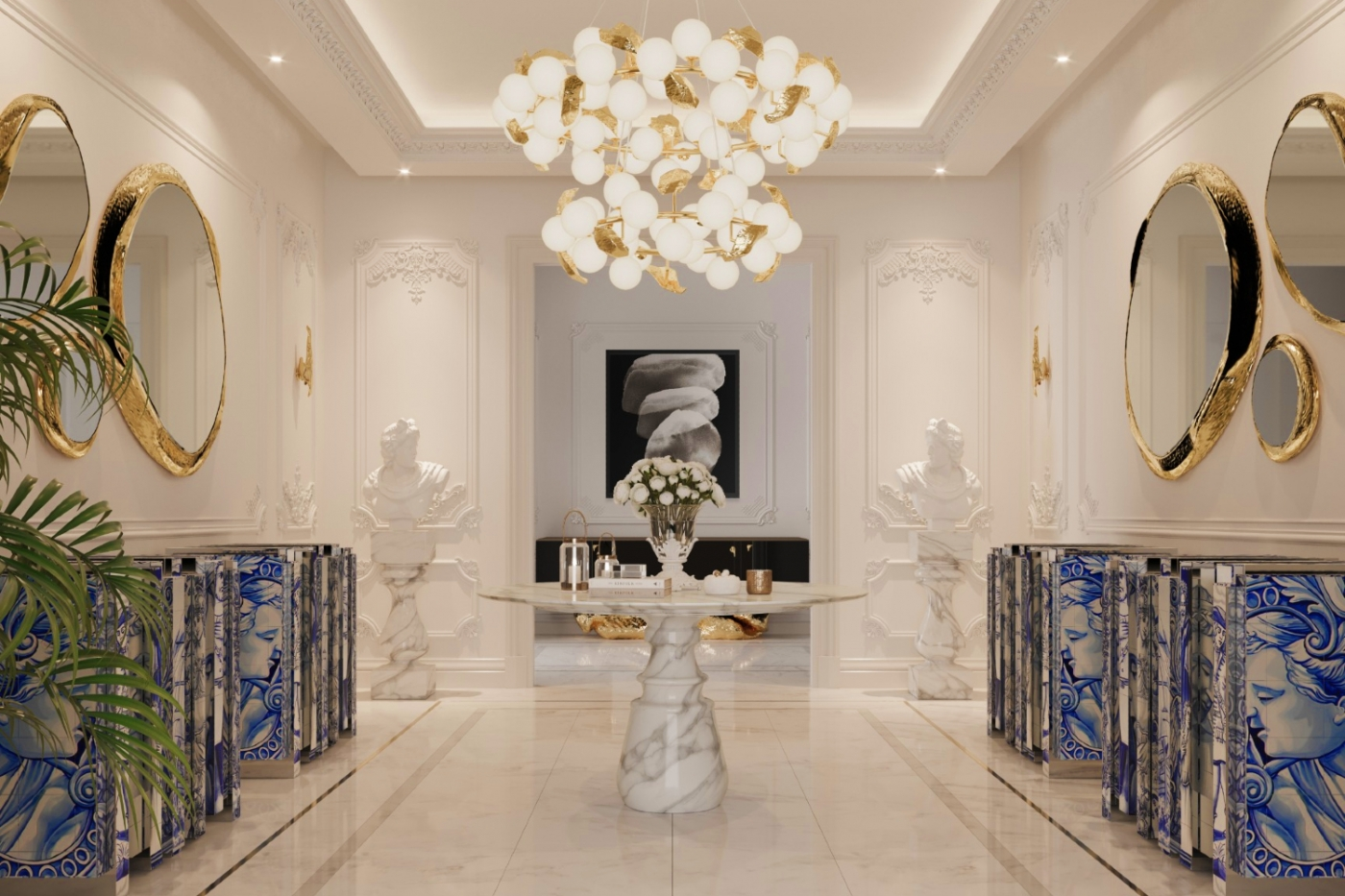 luxury entryway A Millionaire And Luxury Entryway That Makes A Killer First Impression 1 3 1400x933
