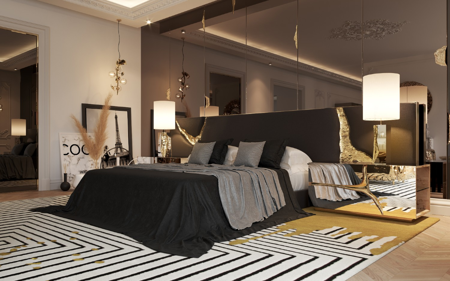 Shop The Look Of A Private Master Suite In Parisian Penthouse