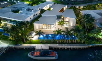 luxury estate $21 Million Miami Beach Luxury Estate Designed by Achille Salvagni 01c Exterior Waterfrontage Achille Salvagni Photo Credit Douglas Elliman 335x201