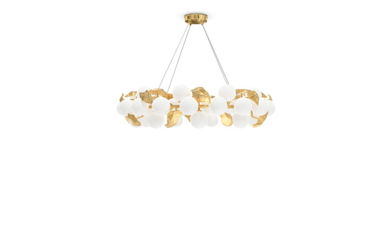 collectable design Collectable Design Pieces You Can Find In This Luxury Penthouse HERA ROUND SUSPENSION LAMP 1