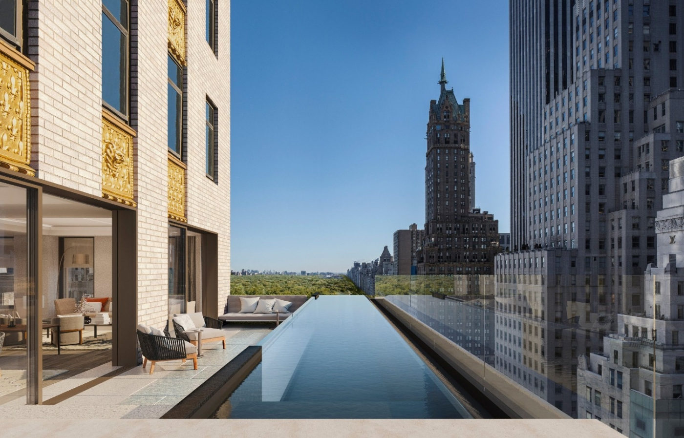 luxury hotel Aman New York – The Luxury Hotel and Residences Open Doors this Spring aman new york residential pool high res 15495web 1400x897