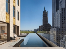 luxury hotel Aman New York – The Luxury Hotel and Residences Open Doors this Spring aman new york residential pool high res 15495web 265x200