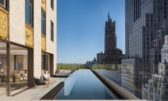 luxury hotel Aman New York – The Luxury Hotel and Residences Open Doors this Spring aman new york residential pool high res 15495web 335x201