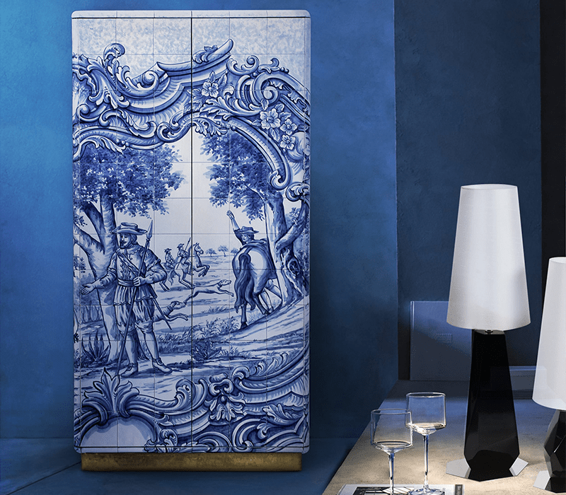 Portuguese Hand-painted Tiles – A Ode to Craftsmanship heritage cabinet 04 boca do lobo
