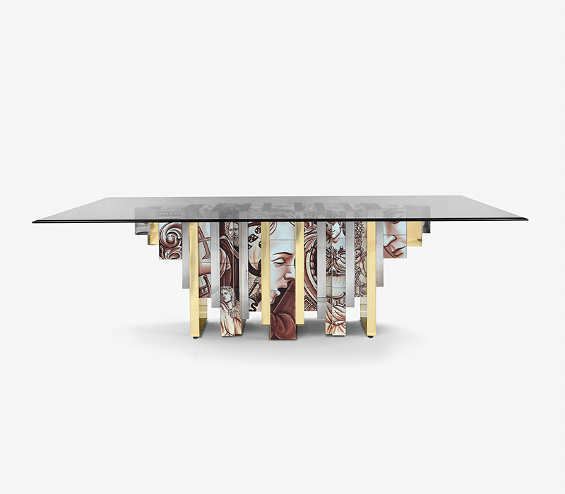 Portuguese Hand-painted Tiles – A Ode to Craftsmanship heritage dining table 02 boca do lobo