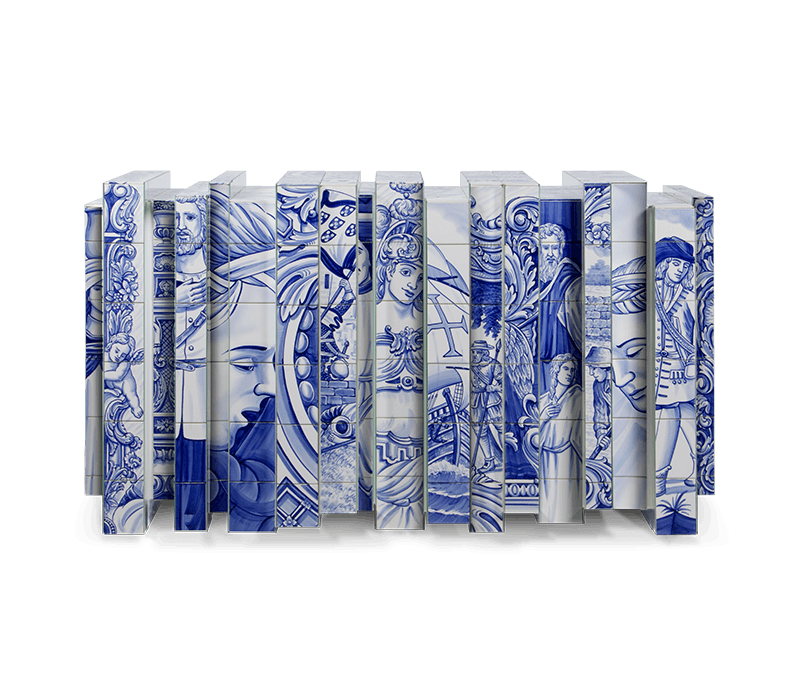 Portuguese Hand-painted Tiles – A Ode to Craftsmanship craftsmanship Portuguese Hand-Painted Tiles – An Ode to Craftsmanship heritage sideboard 01 boca do lobo