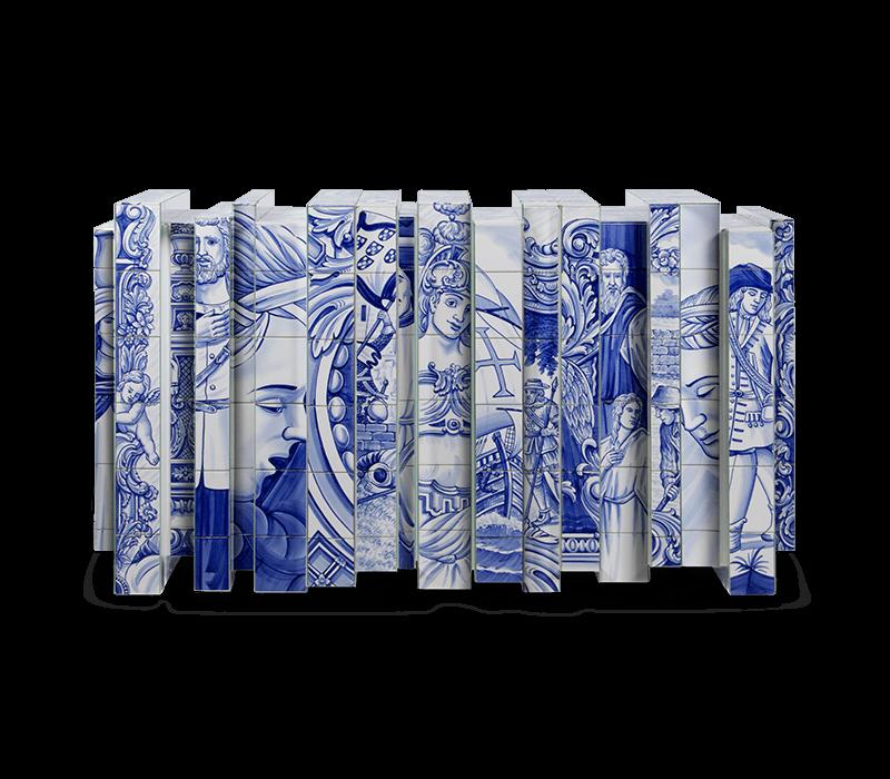Portuguese Hand-painted Tiles – A Ode to Craftsmanship heritage sideboard 01 boca do lobo