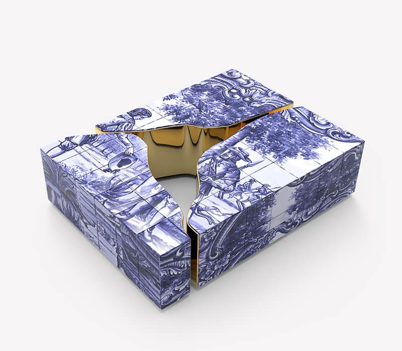 Blue and Gold - Luxury Furniture Inspiration luxury furniture Blue and Gold – Luxury Furniture Inspiration lapiaz tiles center table 02 boca do lobo