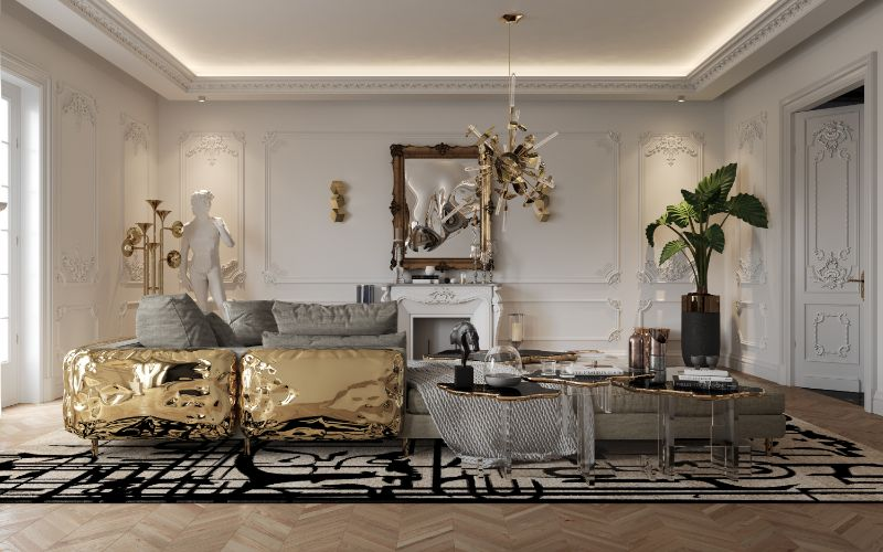 Get The Look Of Parisian Penthouse's Living Room Design living room design Get The Look Of Parisian Penthouse's Living Room Design living room 2