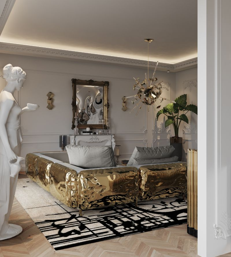 Get The Look Of Parisian Penthouse's Living Room Design living room design Get The Look Of Parisian Penthouse's Living Room Design living room 3