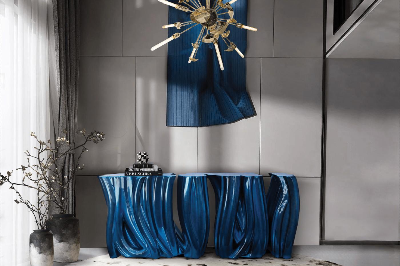 luxury furniture Blue and Gold – Luxury Furniture Inspiration monochrome blue sideboard 04 boca do lobo 1 1 1400x933