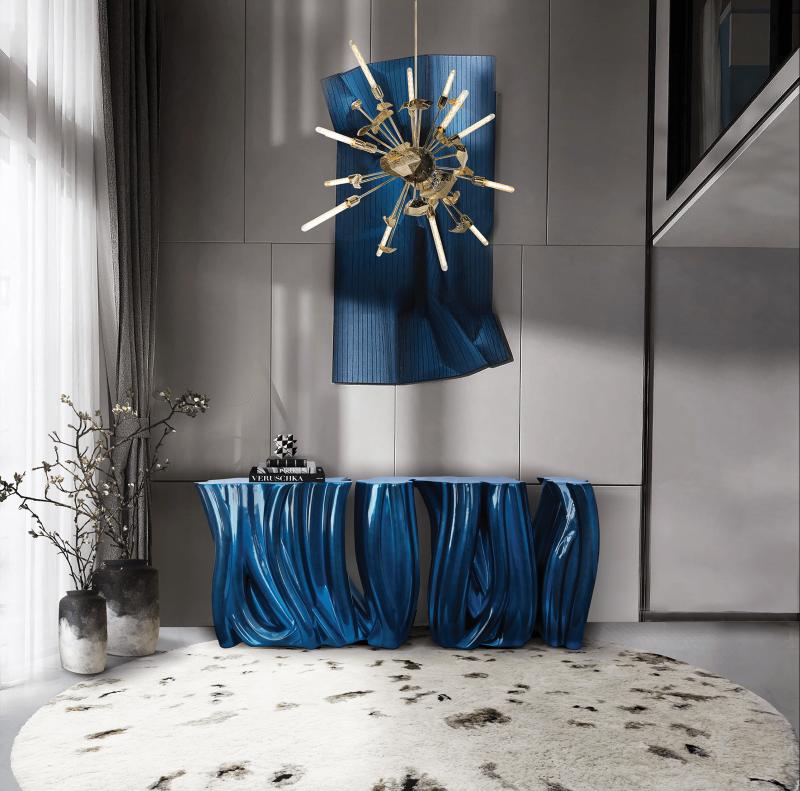 luxury furniture Blue and Gold – Luxury Furniture Inspiration monochrome blue sideboard 04 boca do lobo 1
