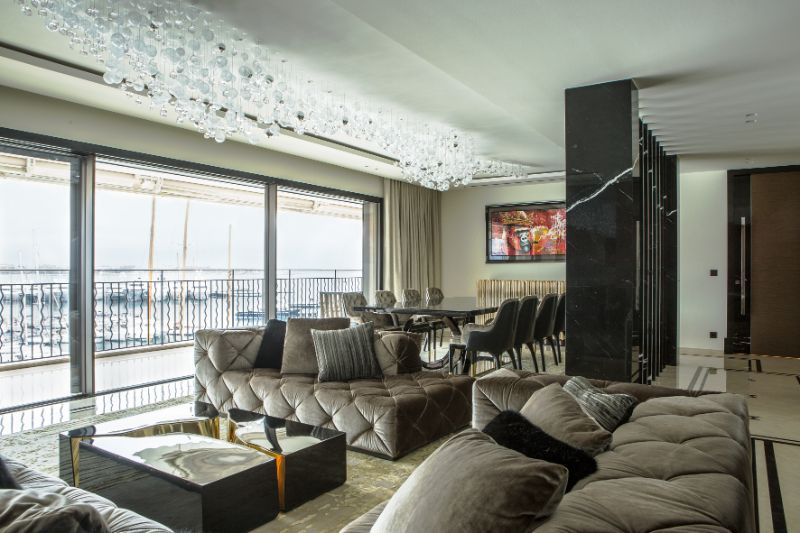 french apartment A French Apartment That Overlooks The Dazzling Port Of Cannes An Opulent French Apartment That Overlooks The Port Of Cannes 1